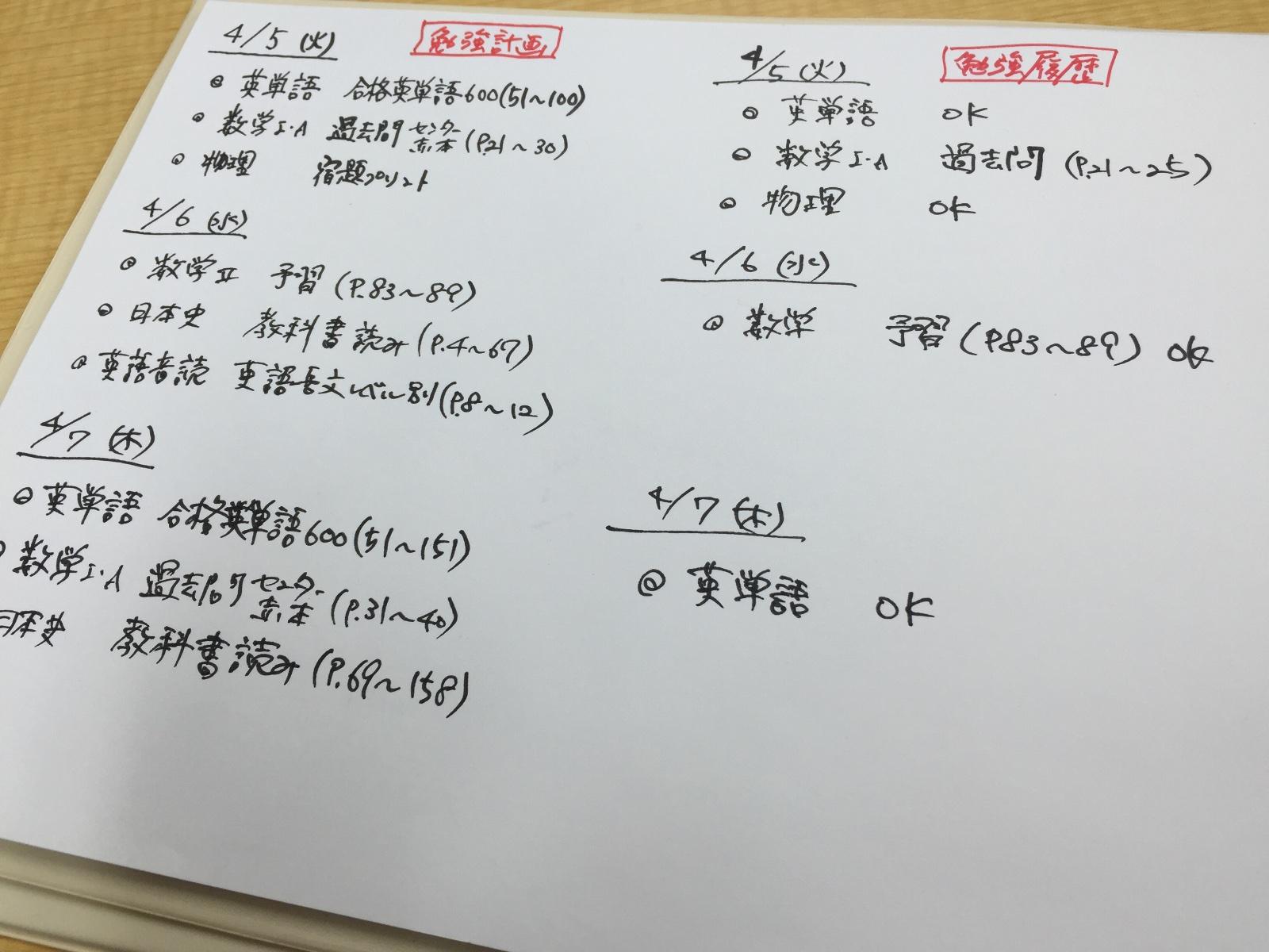 勉強履歴の記録!